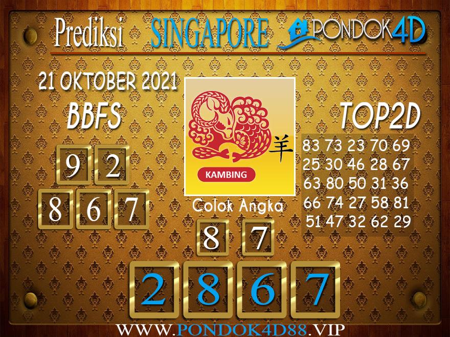 Prediksi Togel SINGAPORE PONDOK4D 21 OKTOBER 2021