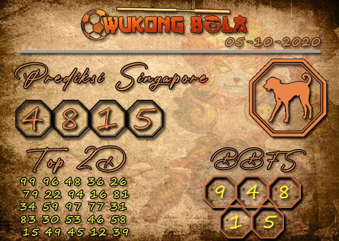 Prediksi Togel SINGAPORE WUKONGBOLA 05 OKTOBER 2020