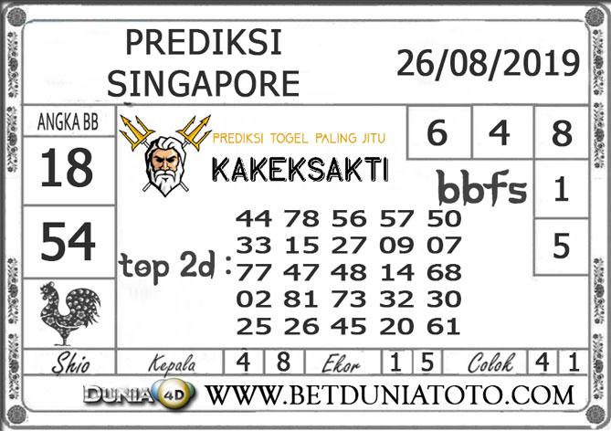 """Prediksi Togel """"SINGAPORE"""" DUNIA4D 26 AGUSTUS 2019"""