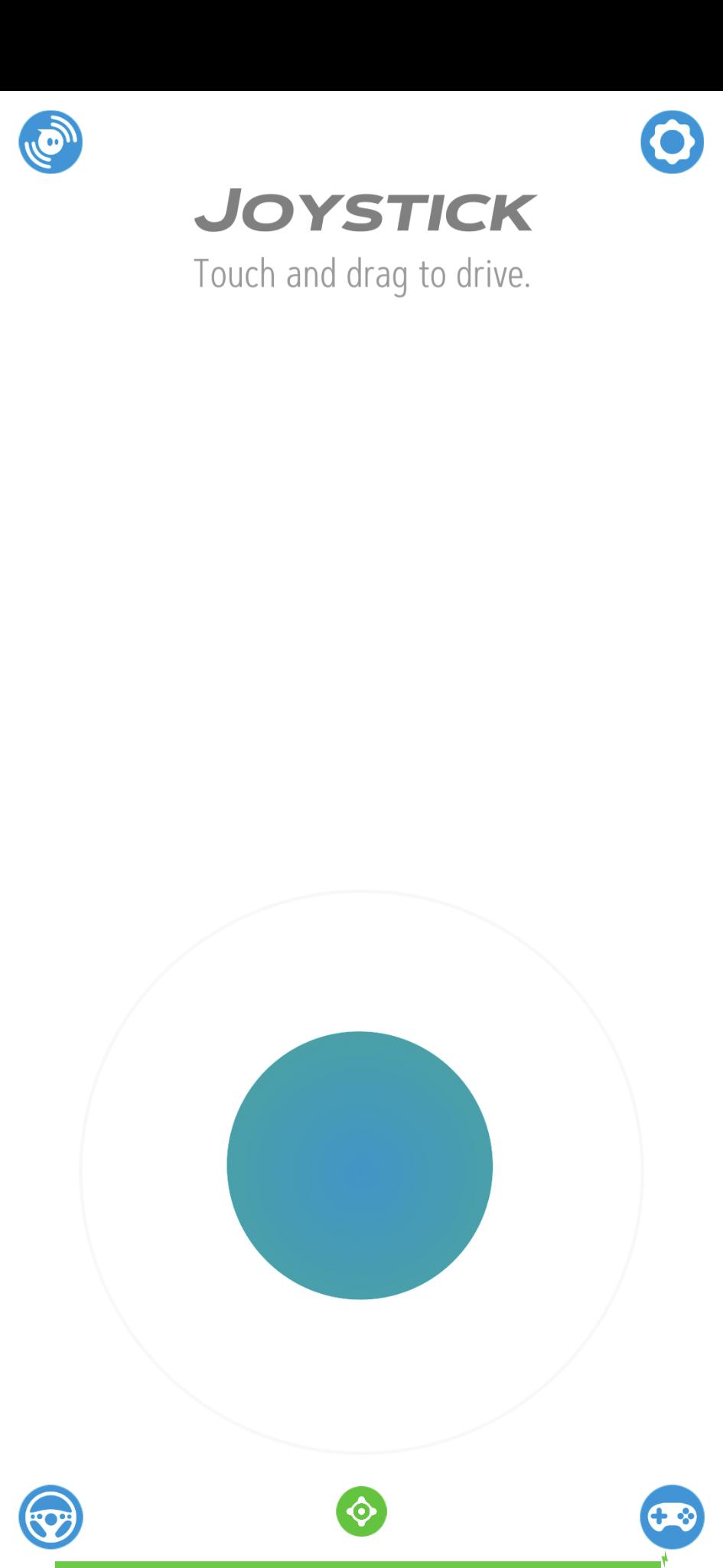 The Sphero app in joystick mode