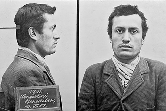 Mussolini before going to prison for the first time