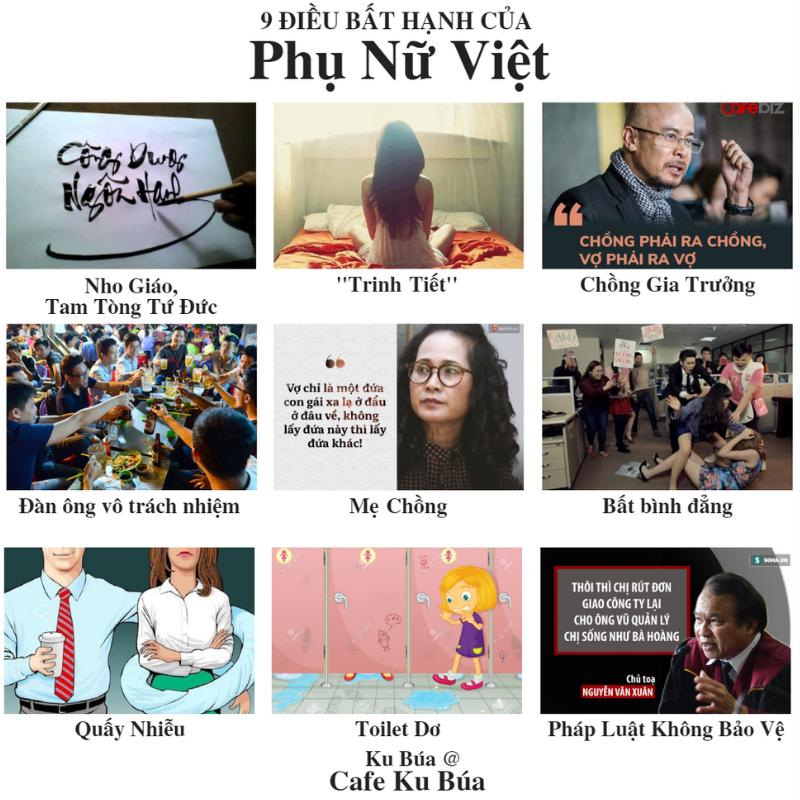 9 điều bất hạnh của phụ nữ Việt