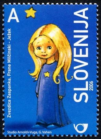 Slovenia stamps CHILD-S-BOOK-FIGURE-ZVESTICA-ZASPANKA