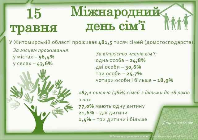 den simya - У Житомирській області 77% сімей виховує по одній дитині