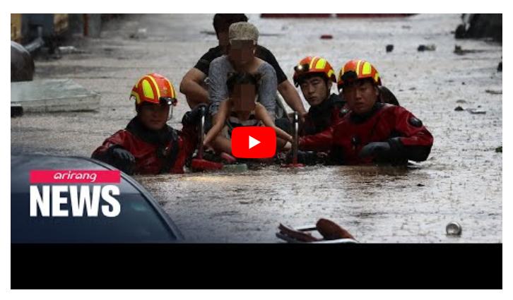 Inondazioni mortali colpiscono Corea del Sud.
