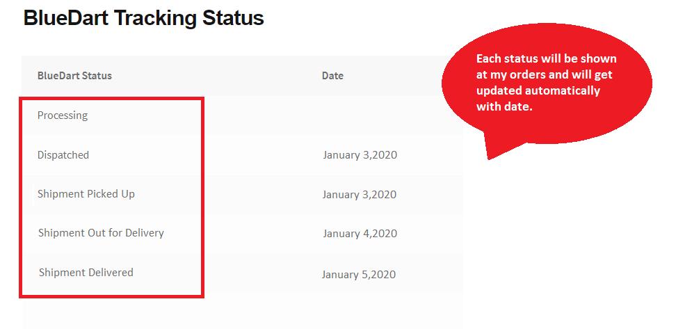 Blue Dart Shipment Tracking WooCommerce Plugin 3