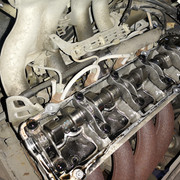 Mercedes OM.601 With Timing Cover Removed
