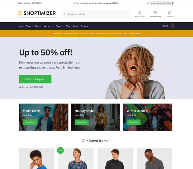 Shoptimizer v1.9.5 - Fastest WooCommerce WordPress Theme