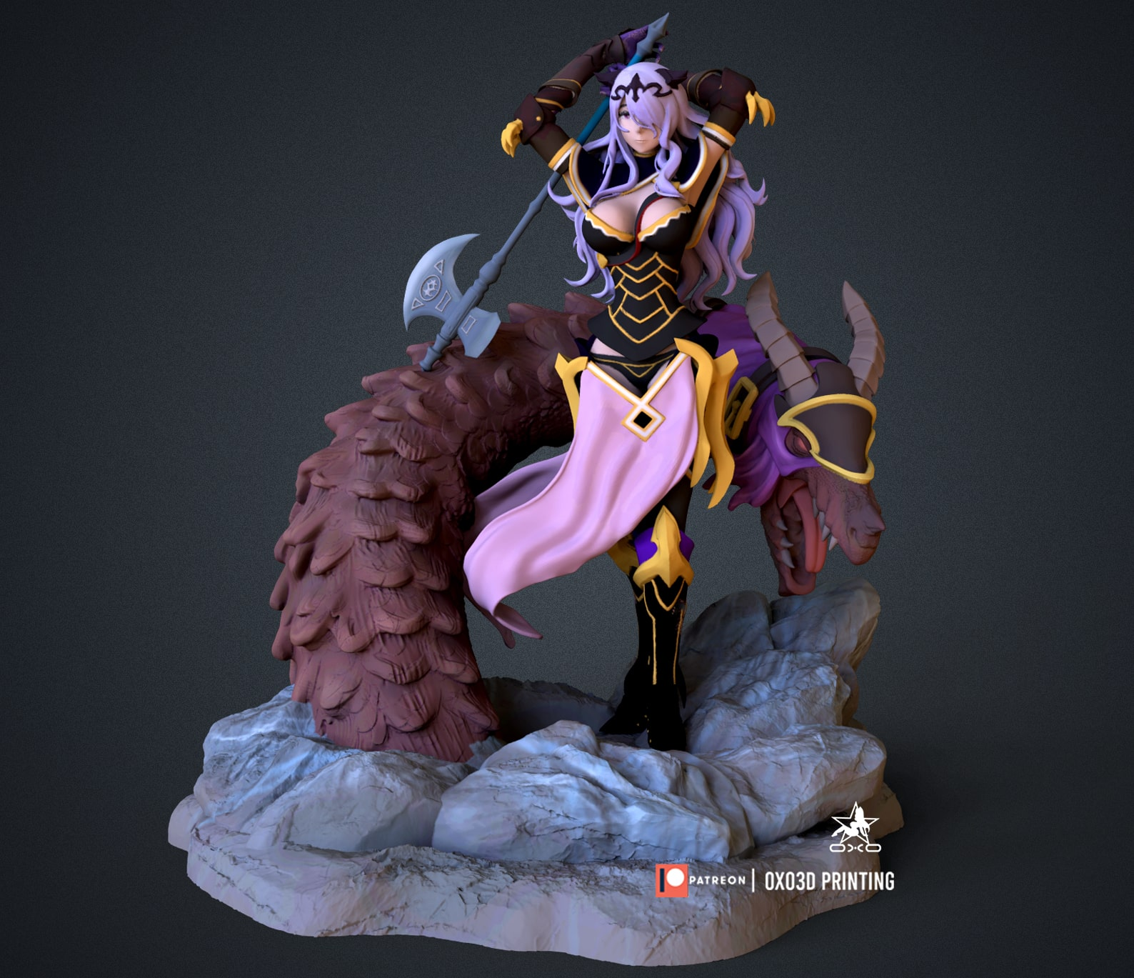 Camilla From Fire Emblem 3D Print STL File with base