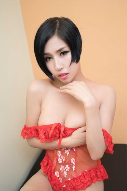 Foto Bohay Cewek Montok Berbikini Merah