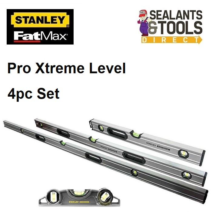 Stanley-Fatmax-Pro-4pc-Spirit-Level-Set-STALEVELPK-TSCA4-PCLEVPK