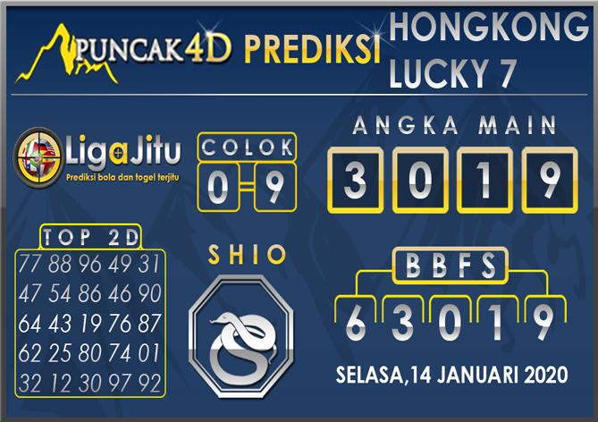 PREDIKSI TOGEL HONGKONG LUCKY7 PUNCAK4D 14 JANUARI 2020