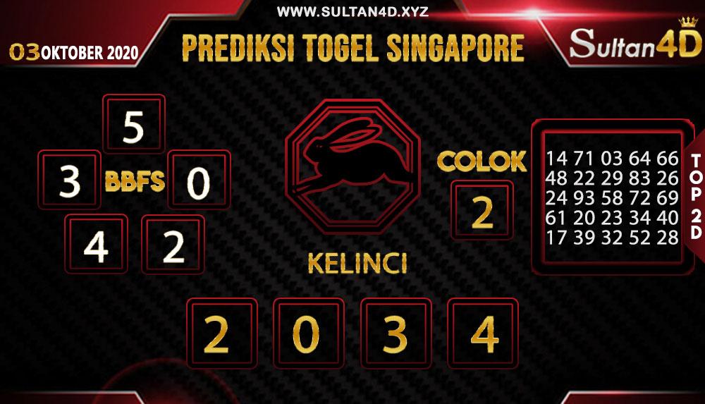 PREDIKSI TOGEL SINGAPORE SULTAN4D 03 OKTOBER 2020
