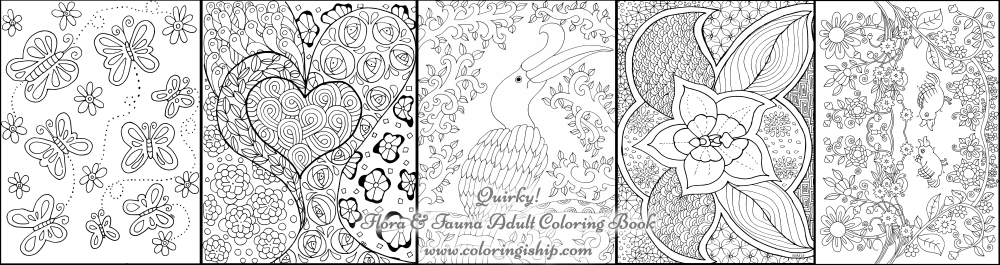 flora and fauna adult coloring book