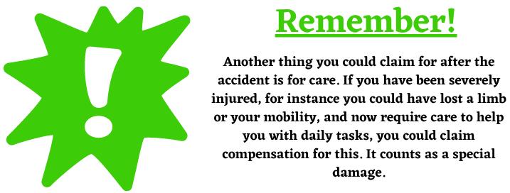 care compensation claim.
