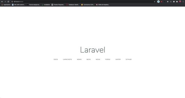 Accueil Laravel