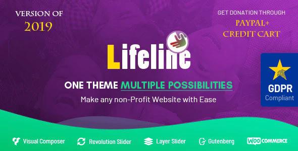 ThemeForest - Lifeline v6.0 - NGO, Fund Raising and Charity WordPress Theme - 7044503