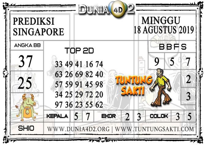 """Prediksi Togel """"SINGAPORE"""" DUNIA4D2 18 AGUSTUS 2019"""