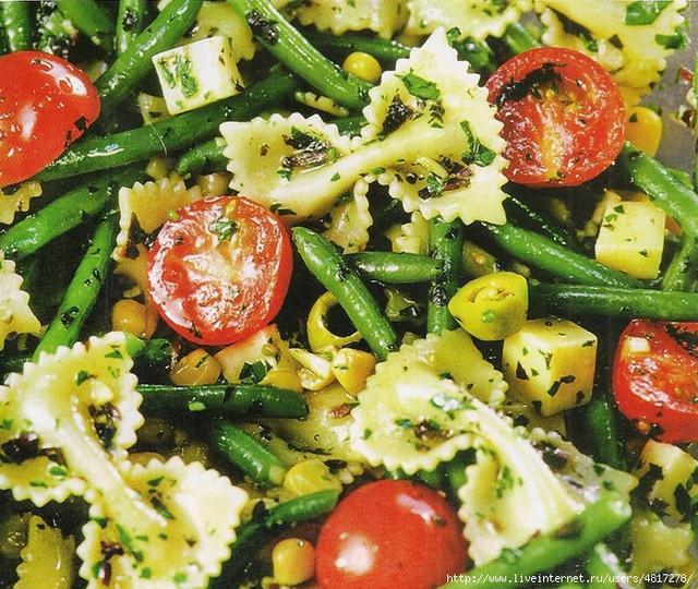 Салат итальянский из макарон фарфалле