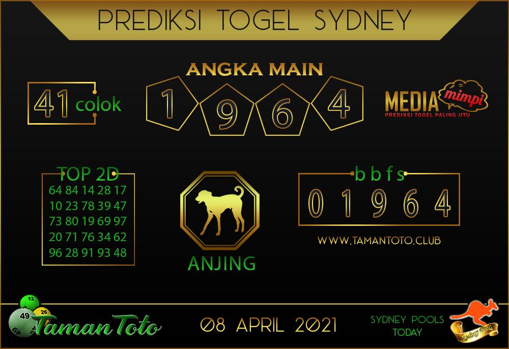 Prediksi Togel SYDNEY TAMAN TOTO 08 APRIL 2021
