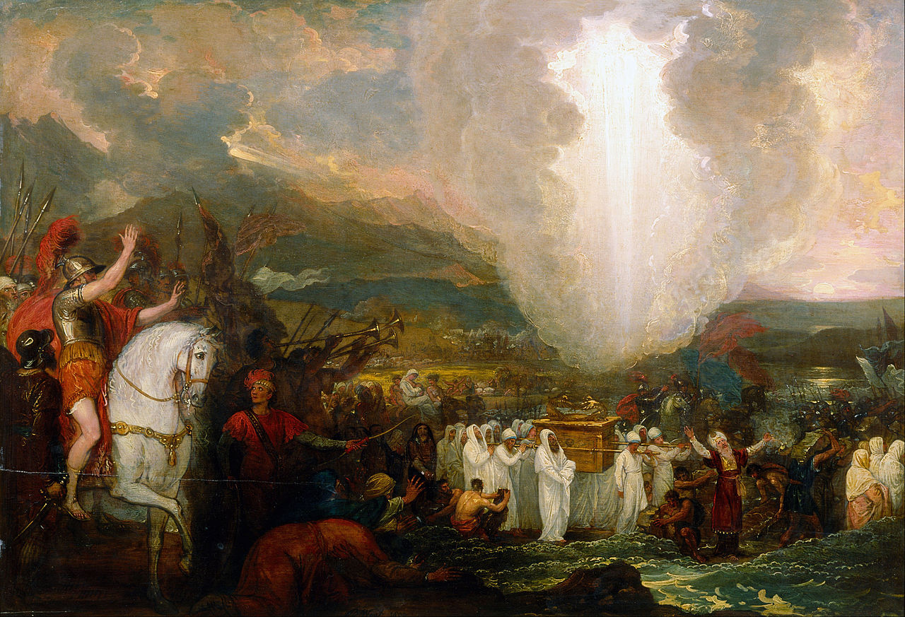 Benjamin-West-Joshua-passing-the-River-Jordan-with-the-Ark-of-the-Covenant-Google-Art-Project