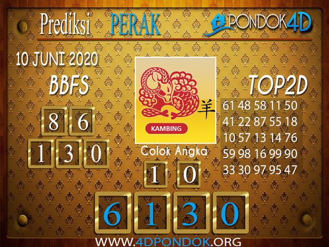 Prediksi Togel PERAK PONDOK4D 10 JUNI 2020