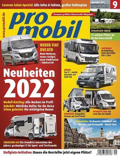 Cover: Promobil Reisemobilmagazin No 09 September 2021