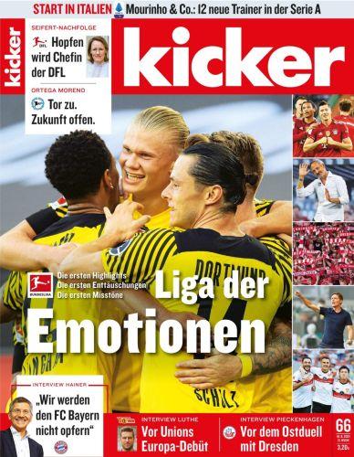 Cover: Kicker Sportmagazin No 66 vom 16  August 2021