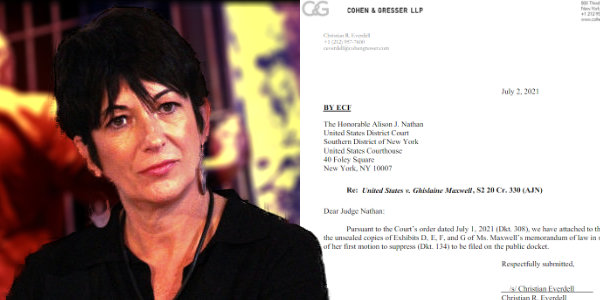 Newly unsealed docs in the Ghislaine Maxwell case (50+ pages)…