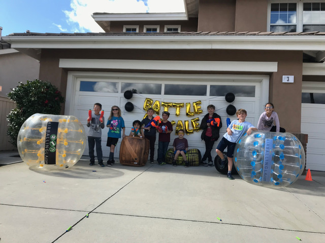 Group Photo of Nerf Party in Lake Forest, South Orange County