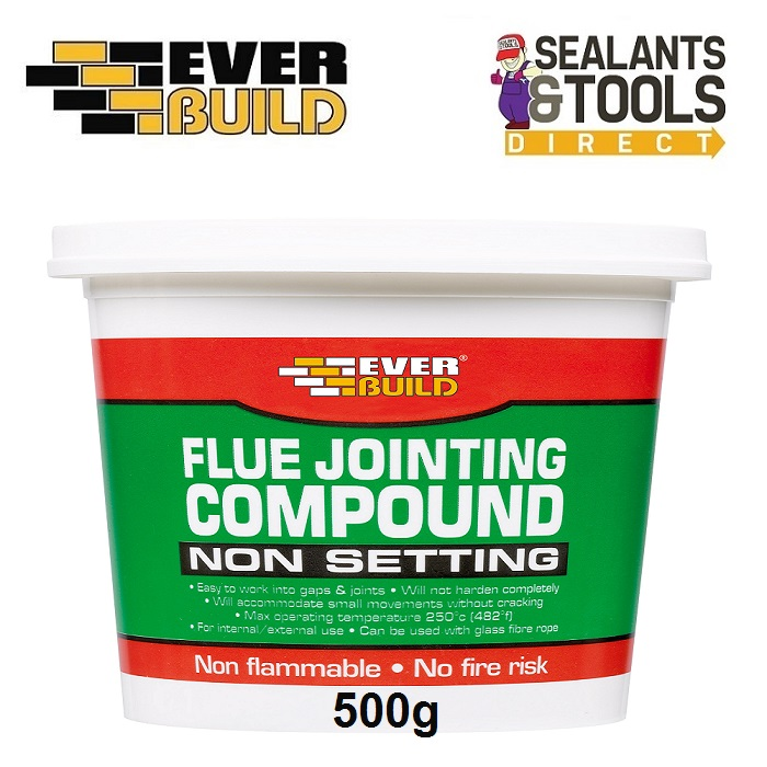 Everbuild Flue Jointing Compound Non Setting 500g PCFJC05