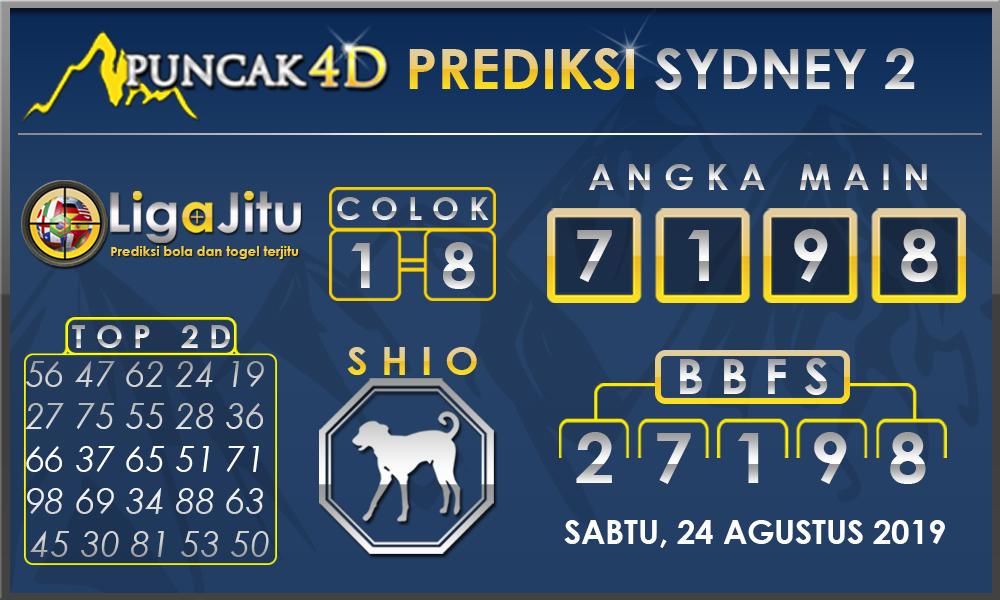 PREDIKSI TOGEL SYDNEY2 PUNCAK4D 24 AGUSTUS 2019