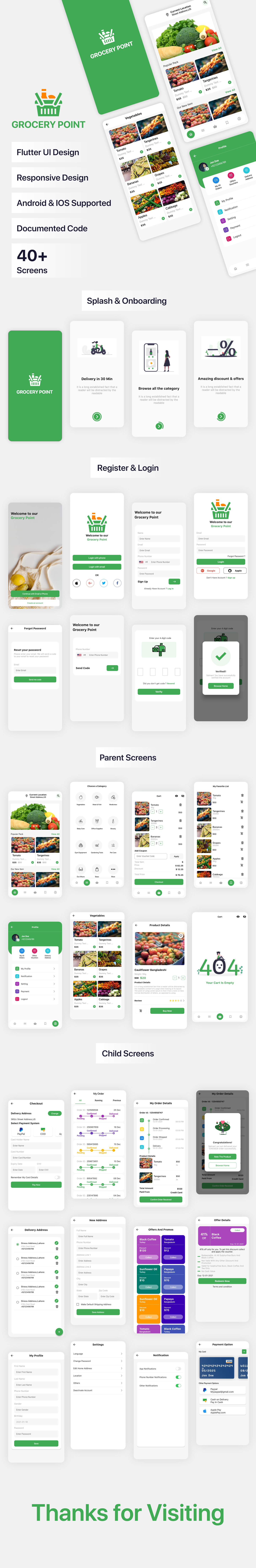 Grocery Point App Mockup