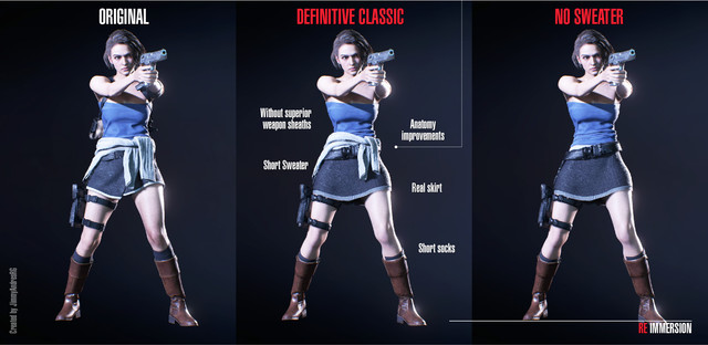 Jill Definitive Classic Costume At Resident Evil 3 2020 Nexus Mods And Community