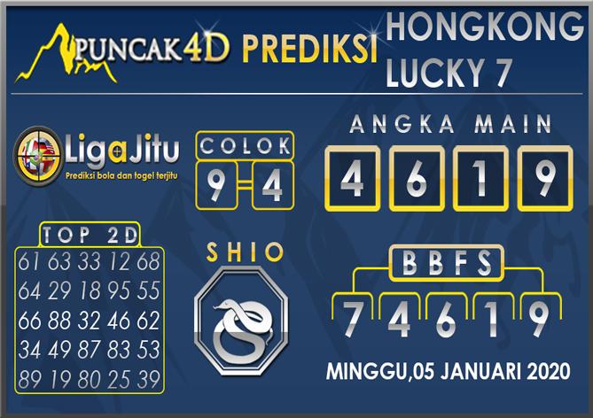 PREDIKSI TOGEL HONGKONG LUCKY7 PUNCAK4D 05 JANUARI 2020