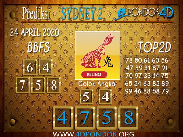 Prediksi Togel SYDNEY 2 PONDOK4D 24 APRIL 2020