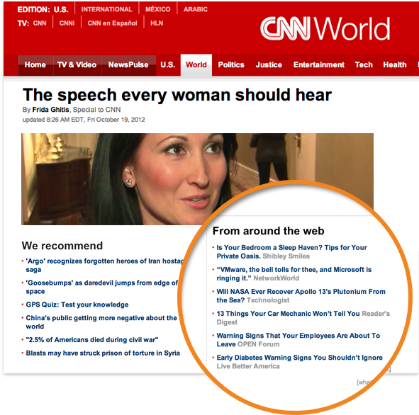 Dynamic content suggestion on CNN