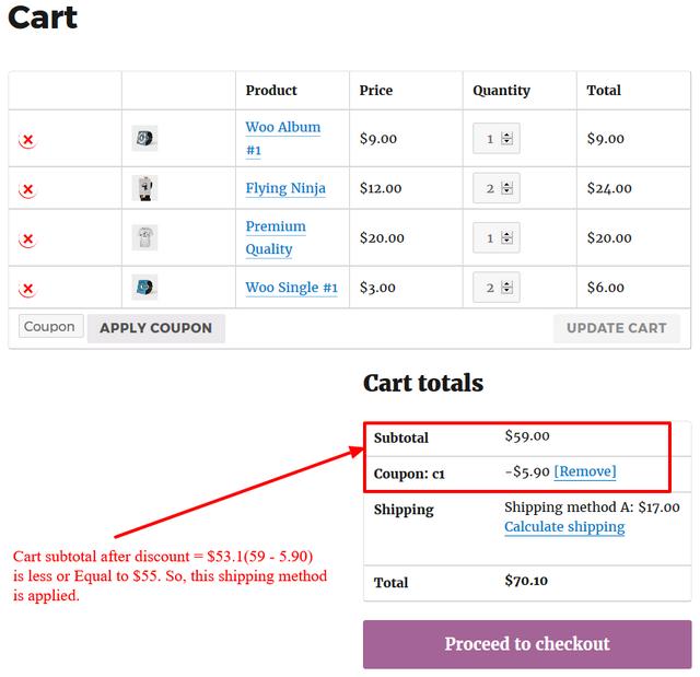 cart subtotal after discount cart