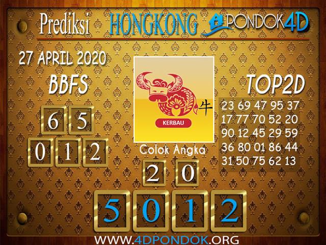 Prediksi Togel HONGKONG PONDOK4D 27 APRIL 2020