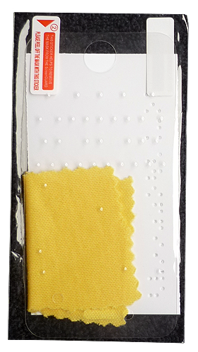 Each SpeedDots screen protector comes with a cleaning cloth