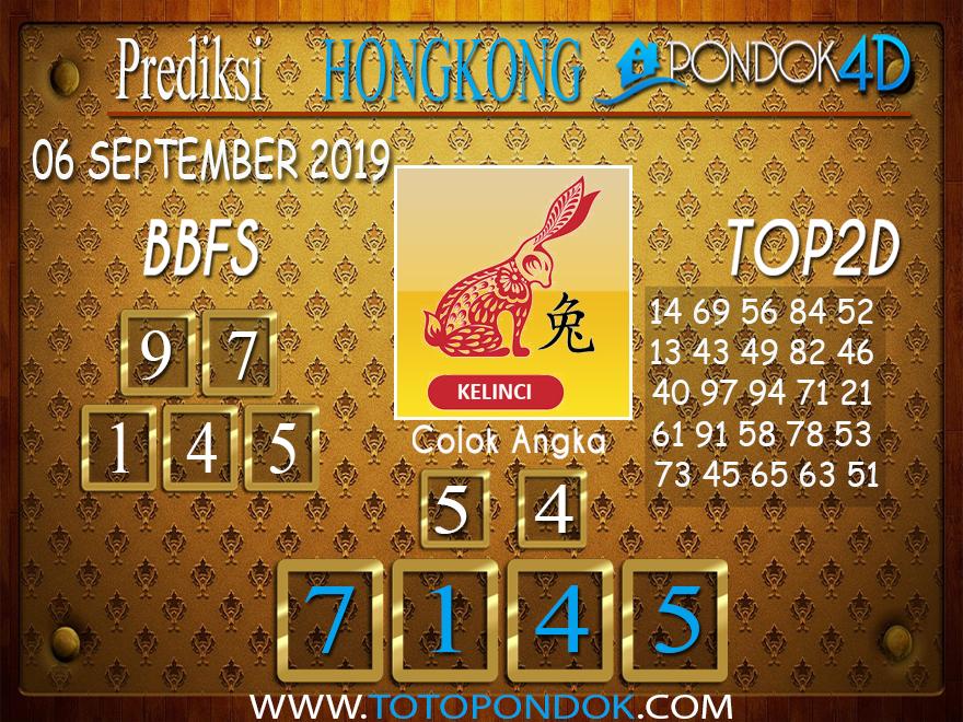 Prediksi Togel HONGKONG PONDOK4D 06 SEPTEMBER 2019
