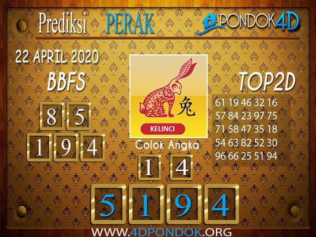 Prediksi Togel PERAK PONDOK4D 22 APRIL 2020