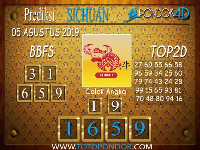 Prediksi Togel SICHUAN PONDOK4D 05 AGUSTUS 2019