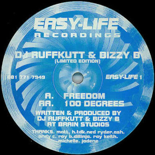 DJ Ruffkutt & Bizzy B - Freedom / 100 Degrees 1994