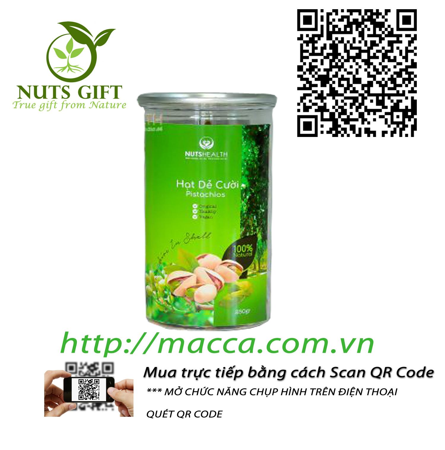 Hạt Dẻ Pistachios – Nutshealth – 250Gr