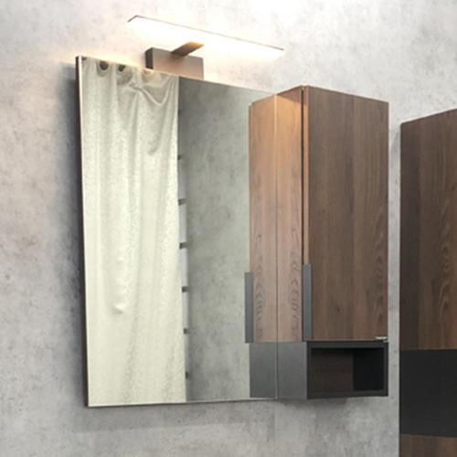 "Зеркало -шкаф ""Франкфурт-75"" дуб шоколадно-коричневый"