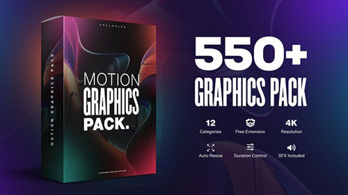 Motion Graphics Pack // 550+ Animations Pack 23678923 - Project & Script for After Effects (Videohive)
