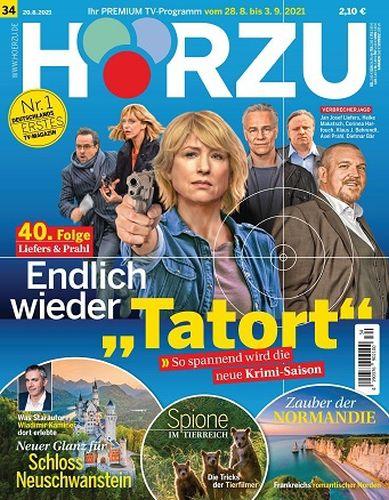 Cover: Hörzu Fernsehzeitschrift Magazine No 34 vom 20  August 2021