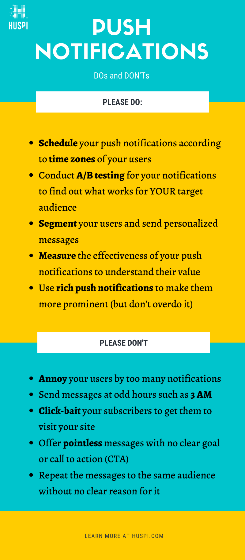 push notifications best practices dos and donts