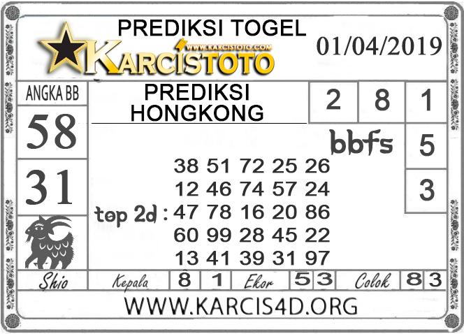 Prediksi Togel HONGKONG KARCISTOTO 01 APRIL 2019